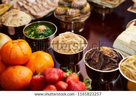 Traditional Korean cuisine  #1165823257