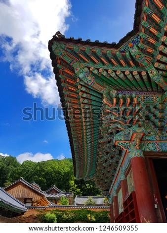 Traditional korean eaves