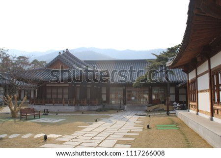 traditional Korean style house, tourist attraction #1117266008