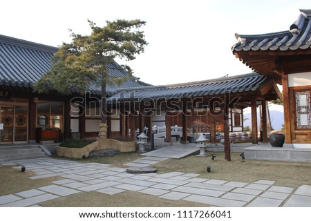 traditional Korean style house, tourist attraction #1117266041