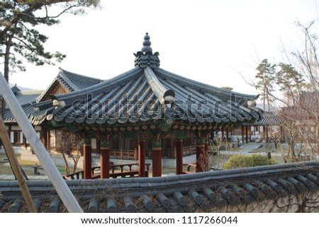 traditional Korean style house, tourist attraction #1117266044