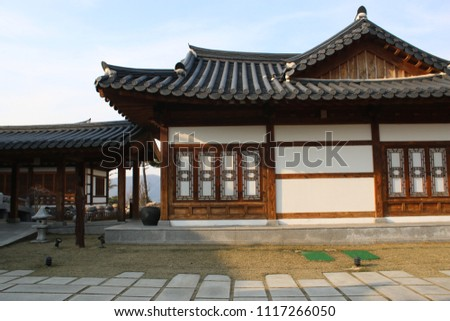 traditional Korean style house, tourist attraction #1117266050