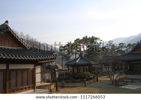 traditional Korean style house, tourist attraction #1117266053