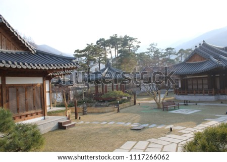 traditional Korean style house, tourist attraction #1117266062