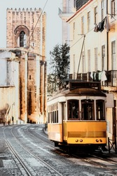 Traditional Lisbon's 28 Downtown Tram