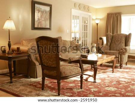 traditional living room interior