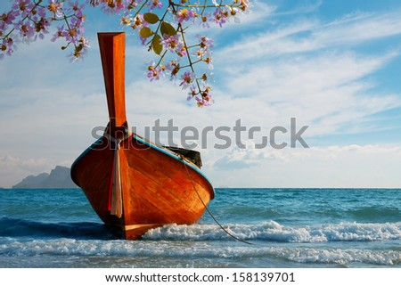 traditional longtail boat at...