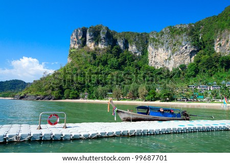 Traditional longtail boat, Krabi province, Thailand