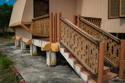 traditional Malay house interior with ornaments, Tanjungpinang, Riau Islands, Indonesia