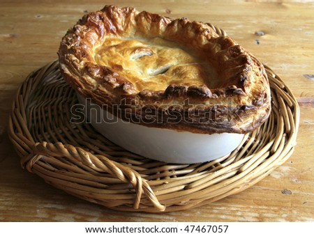 Traditional Meat Pastry Pie