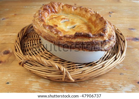 Traditional Meat Puff Pastry Pie
