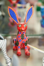 Traditional mexican symbolic hand made toy called alebrije, from Oaxaca region, Mexico