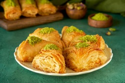 Traditional middle eastern sweets baklava, kadayif , kunafa.