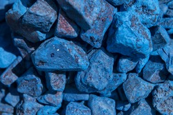 Traditional moroccan blue, pure indigo, natural dye stones.