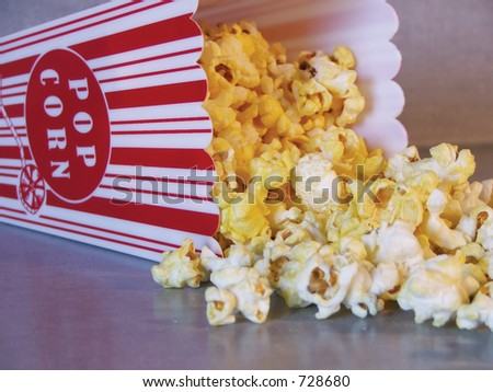 Traditional movie theater popcorn.