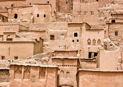 Traditional Mud and clay houses in the Niger
