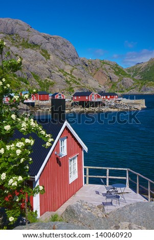 Traditional old fishing village of Nusfjord on Lofoten islands, Norway