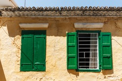 Traditional old house in Preveza city, Epirus region, Greece, Europe