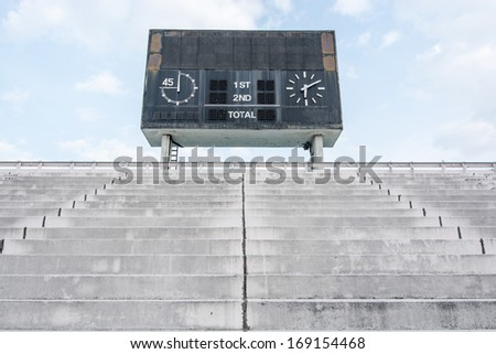 traditional old score board at stadium