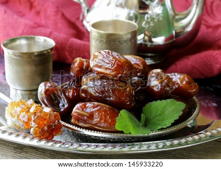 Traditional oriental dessert sweet dried dates