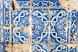 Traditional ornate portuguese decorative tiles azulejos