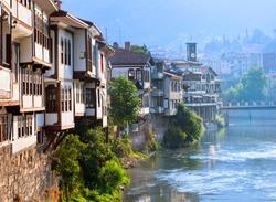 Traditional ottoman houses in Amasya, Turkey