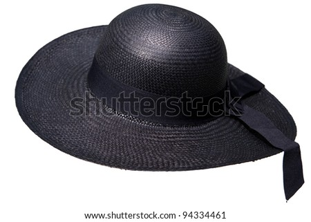 traditional Panama Hat is isolated on a white background