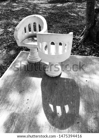 Traditional park benches from Merida Yucatan Mexico #1475394416