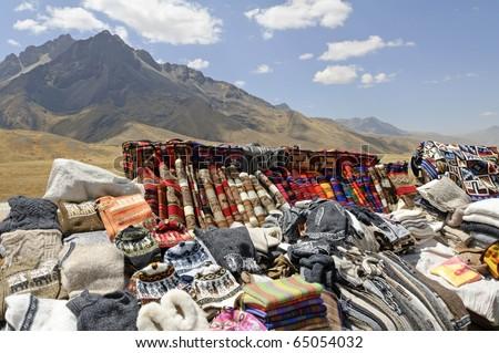 Traditional Peruvian Market at La Raya Pass