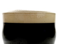 Traditional Pint Of Irish Stout Beer Isolated On White No People