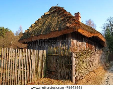 Traditional Polish Cottage House Stock Photo 98643665 ...