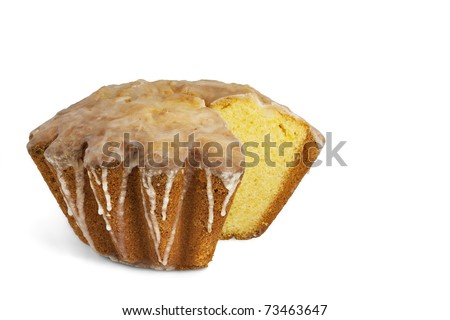 Traditional Polish Easter cake with icing isolated on white. Clipping path.