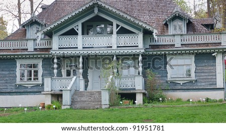 Traditional polish noble house. - stock photo