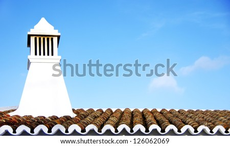 Traditional Portuguese chimney. Algarve, Portugal