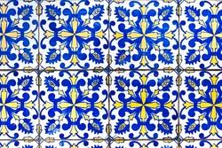 Traditional portuguese tiles, azulejos, in Porto.