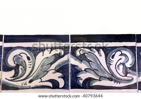 Traditional portuguese wall hand painted tiles