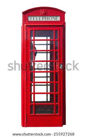 traditional red telephone booth ...