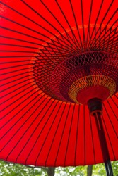 Traditional red umbrella