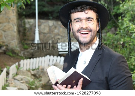 Traditional religious orthodox man in the synagogue Foto d'archivio ©