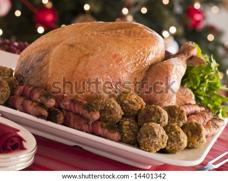 Traditional Roast Turkey with Trimmings
