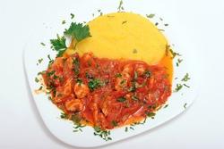 traditional romanian cuisine,tochitura cu mamaliga