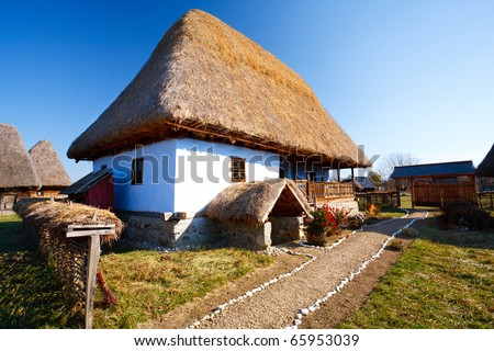 Traditional Romanian house - part of a series with old countryside architecture in Romania