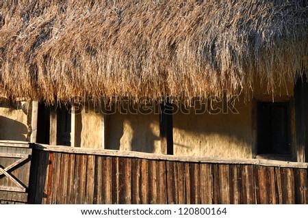 Traditional romanian rural house from Transylvania