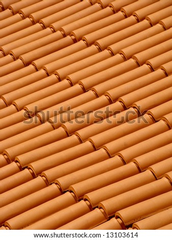 Traditional roof tiles protecting house from rain and bad weather