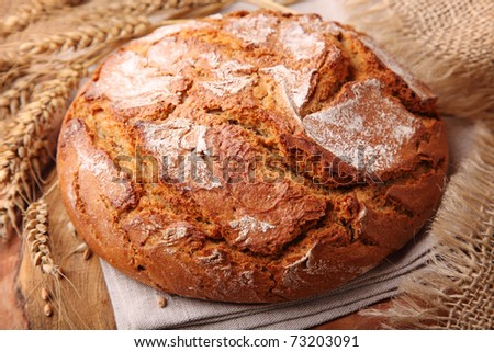 Traditional round rye bread