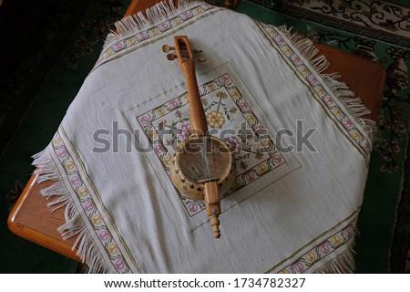 Traditional Rubab music instrument close up Stok fotoğraf ©