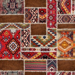 traditional rug patchwork decoratıon carpet