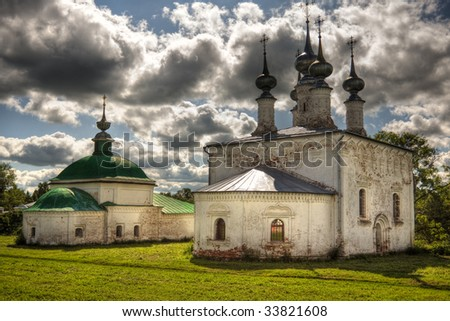 traditional russian church in Suzdal. Countryside