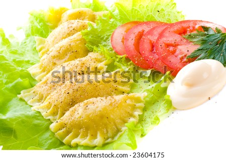 "Traditional Russian food ""vareniki"""