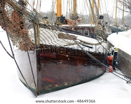 traditional sailing ship in Lübeck, Germany